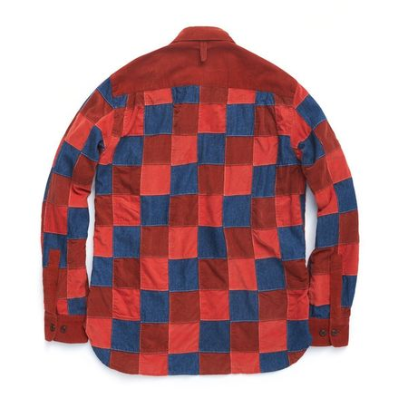 Eastlogue Boyscout Shirt Denim & Corduroy Patchwork