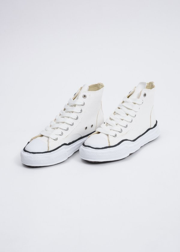 Mihara Yasuhiro Canvas High Top Original Sole Sneaker - White