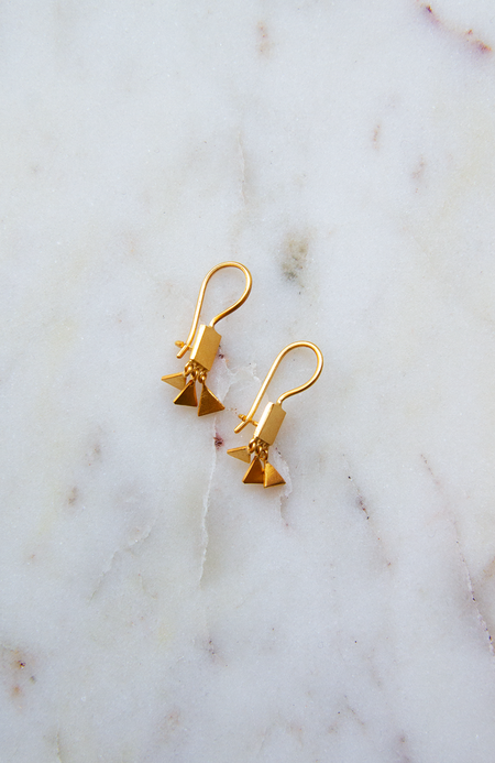 Jane Diaz NY Tiny Square and Triangle Earrings