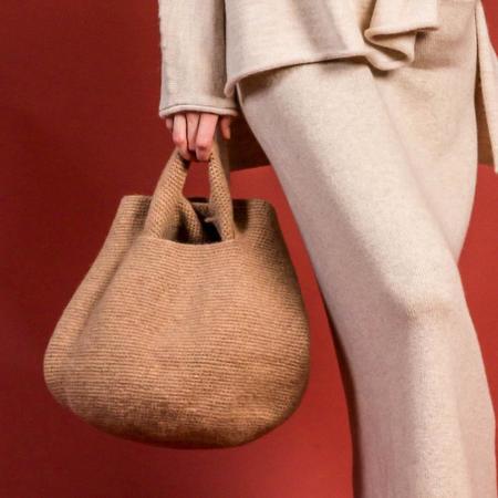 Lauren Manoogian Woolen Bowl Bag - Brindle