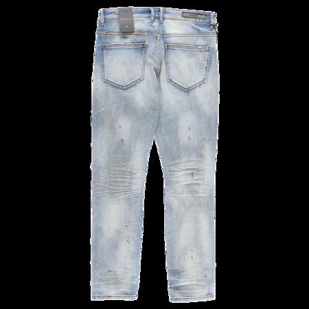 Embellish Maddux Rip And Repair Jeans - Light Indigo