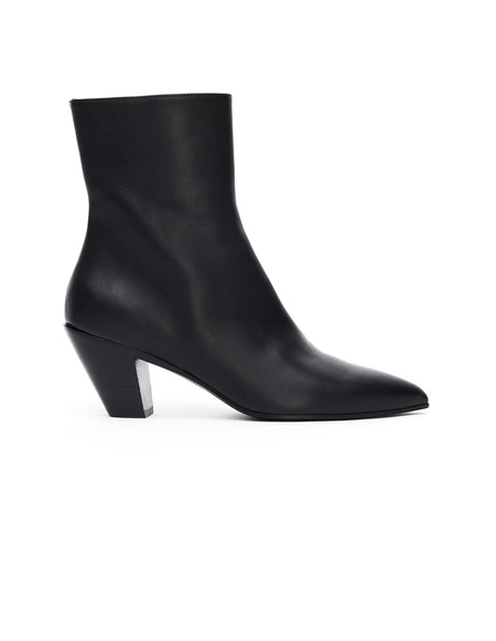 A.F.Vandevorst Leather Point Toe Ankle Boots - Black
