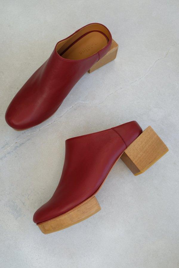 Beklina Matisse Platform Mules - Blood