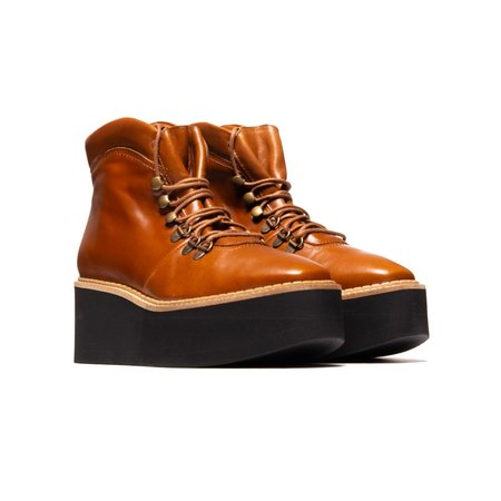 L'Intervalle Delfina Boots - Tan Leather