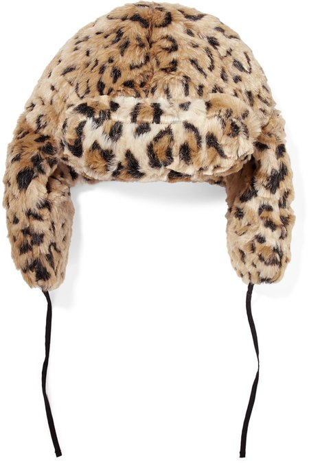 R13 TRAPPER HAT - LEOPARD
