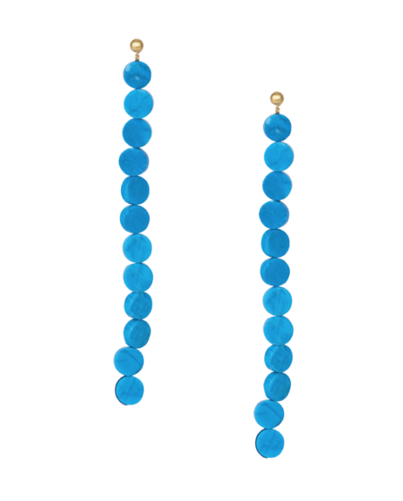 Paloma Wool Lacasa Drop Earrings - Aqua