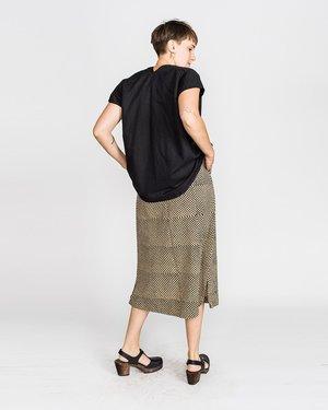 Miranda Bennett Linen/Cotton Blend Everyday Top - Black