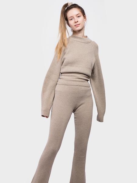 Nanushka Leba Knit Pants - Stone