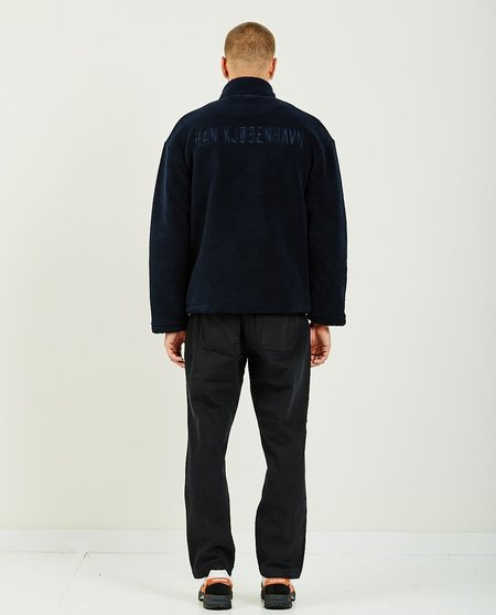 Han Kjobenhavn TRACK FLEECE JACKET - NAVY