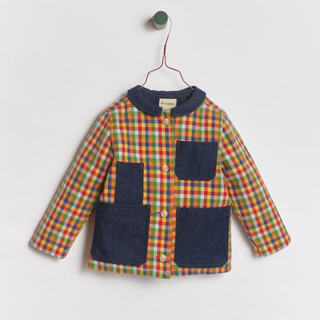 Kids We A Family Pablo Quilted Jacket - Plaid