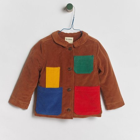Kids We A Family Pablo Shearling Jacket - Brown