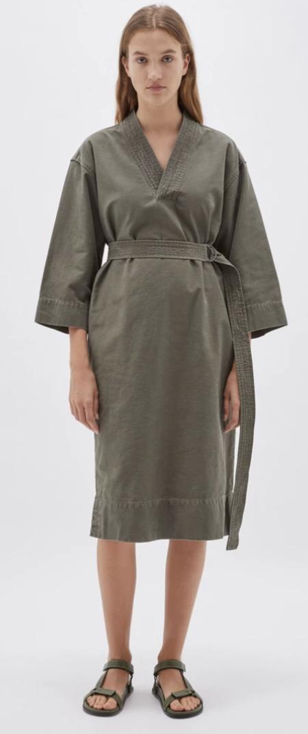 Bassike Cotton Kimono Dress - Military