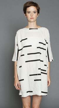 Uzi Broken Stripe Dress