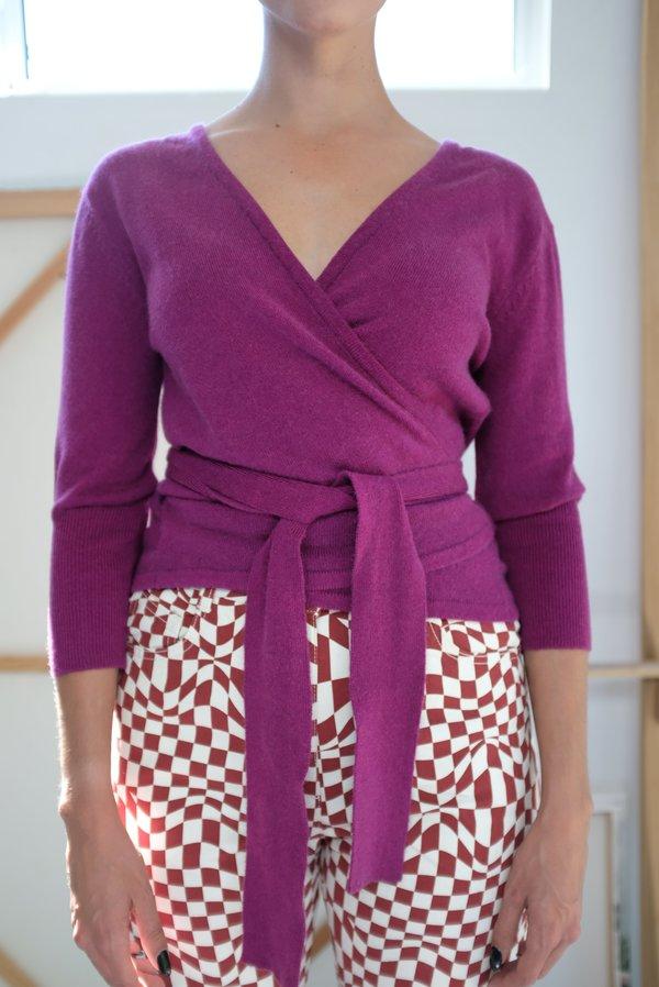 Beklina Cashmere Ballet Wrap Sweater - Baya