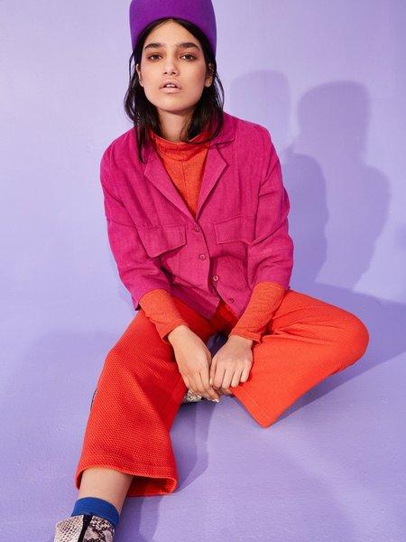 Eve Gravel Panorama Shirt/Jacket - Fuchsia