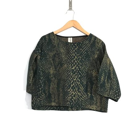 Eve Gravel Slice Me Nice Top - Snake Print