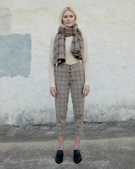 Esby Dylan Scarf - Brown Vintage Plaid