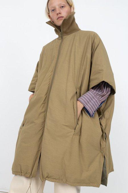 Rito Big Cape With Rib Jacket - Khaki