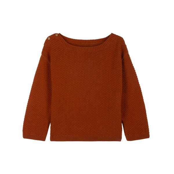 kids le petit germain Fjord Sweater - Rust