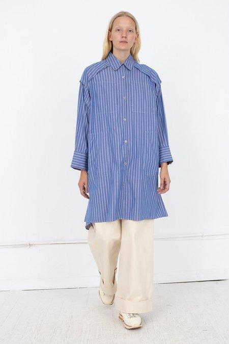Rito Long Reversible Stripe Shirt - Blue