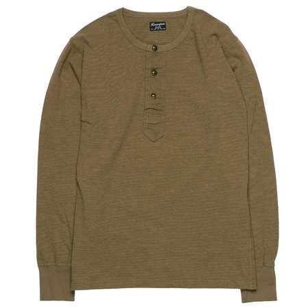 Homespun Knitwear Surplus Henley - Olive Drab