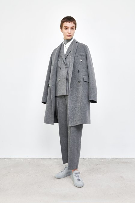 MS MIN Double Breasted Coat - Ash Grey