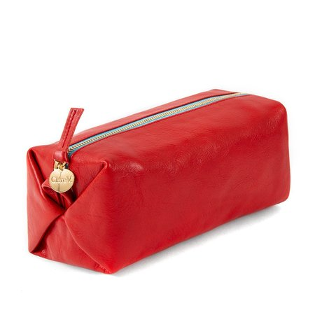 Clare V. Toiletry Case - Cherry Red