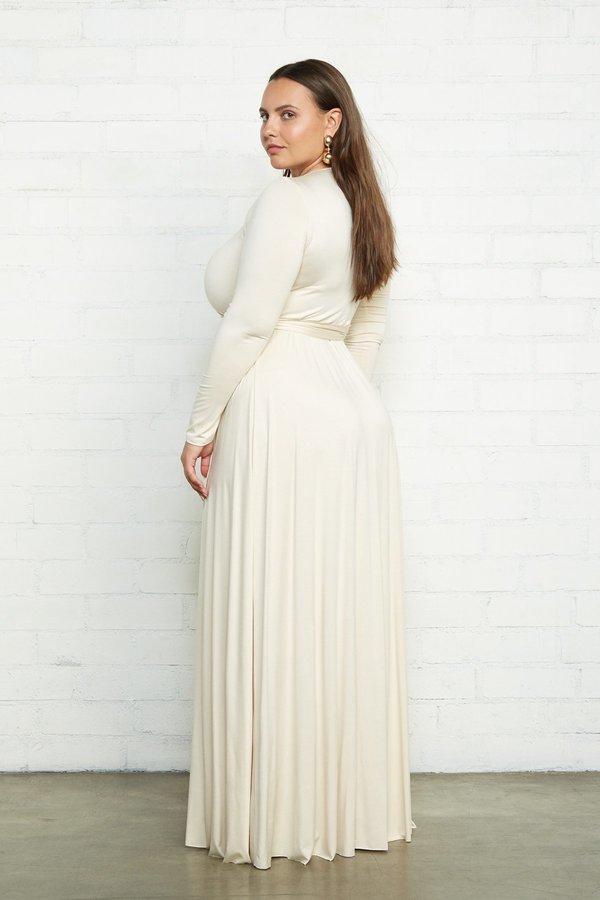 Rachel Pally Plus Size Harlow Wrap Dress - Cream on Garmentory