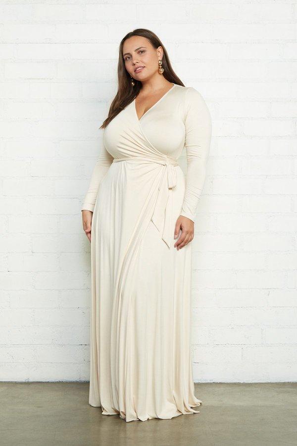 Rachel Pally Plus Size Harlow Wrap Dress - Cream