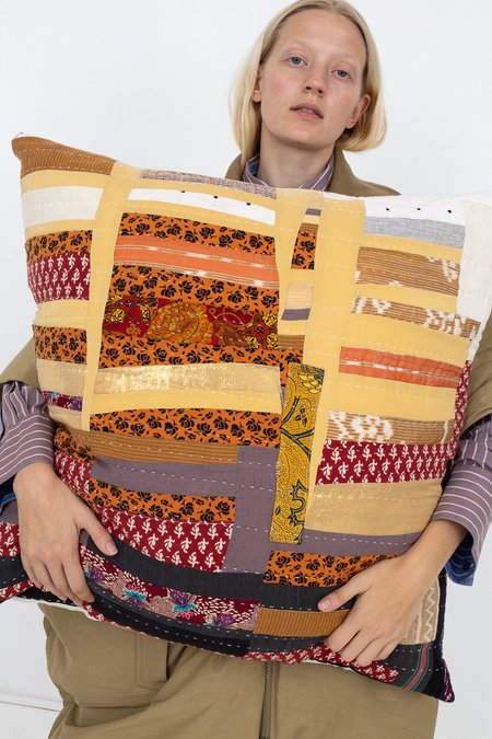 Counterpane Patchwork Pillow - Earth Tone I