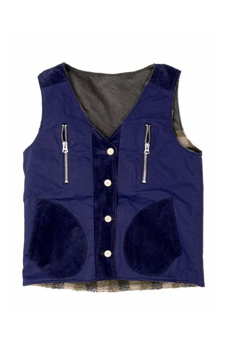 Fried Rice Reversible Vest - Navy