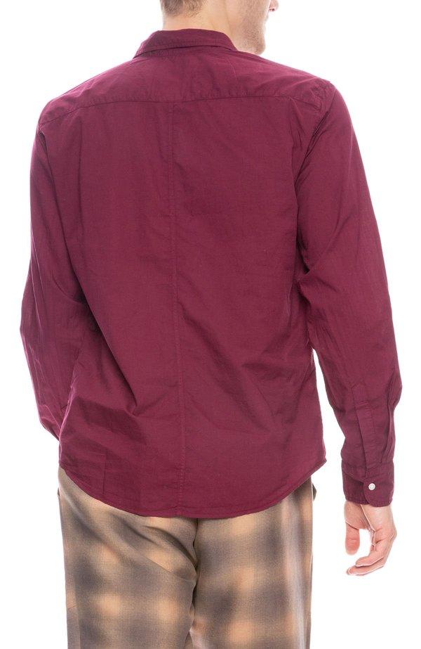 Frank & Eileen Luke Italian Poplin Shirt - Berry