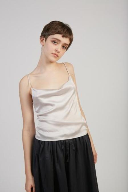Paloma Wool Benve silk stretch top - Silver