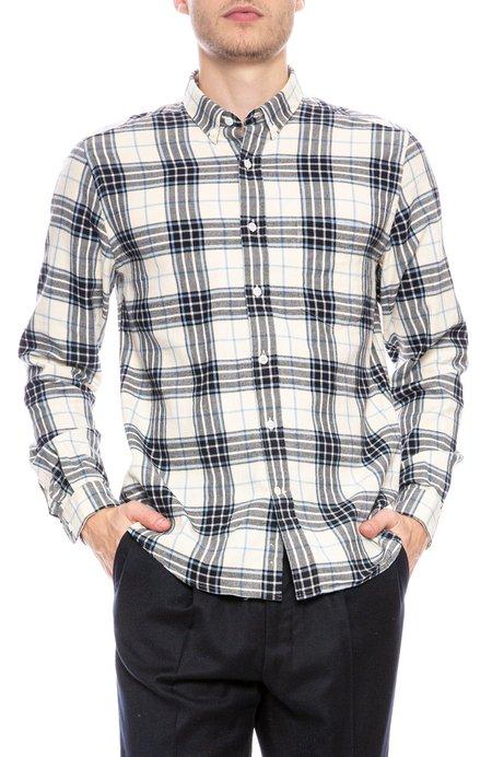 AMI Brushed Cotton Button Down Shirt