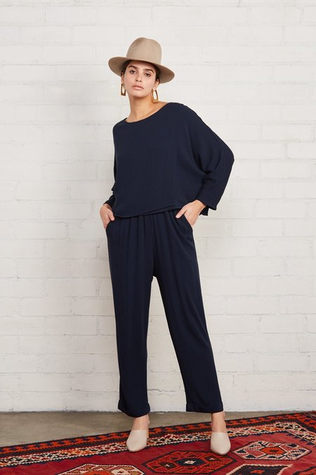 Rachel Pally Pucker Rayon Mikko Pant - Midnight