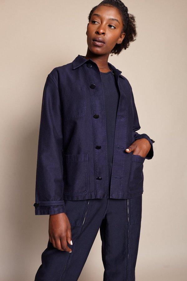 Caron callahan krasner twill coat - navy