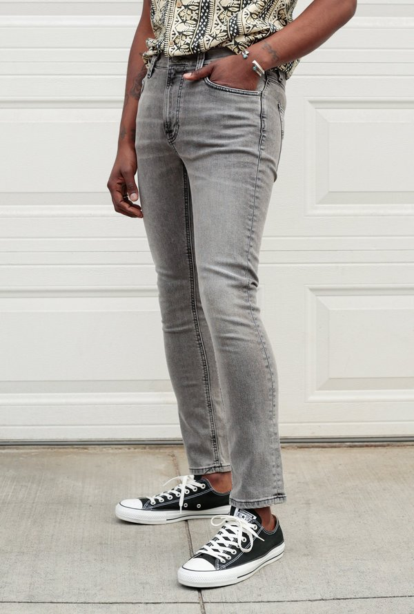 """Nudie Jeans 32"""" Lean Dean Jean - Vintage Grey"""