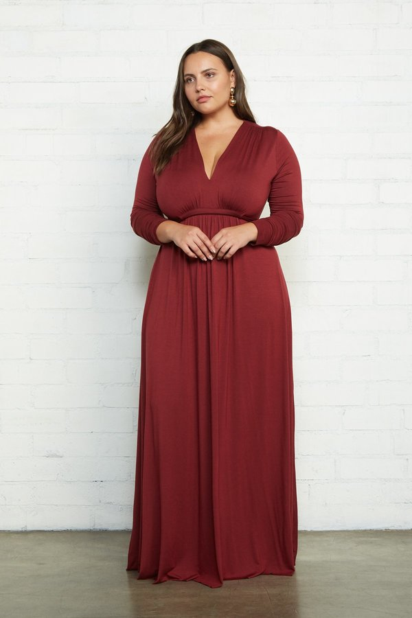 Rachel Pally Plus Size Long Sleeve Full Length Caftan Dress - Gamay on  Garmentory