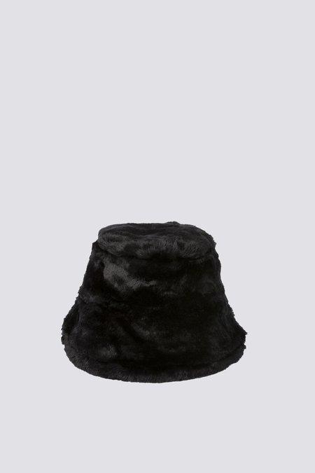 Clyde Fur Bucket Hat - Black