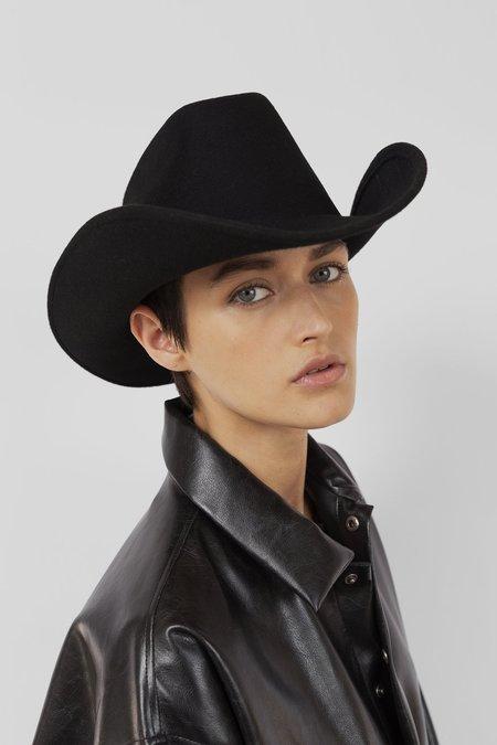 Clyde Wool Cowboy Hat - Black
