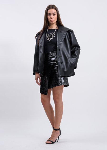 Helmut Lang Mylar Wrap Skirt - Black