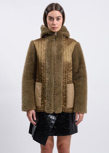 Helmut Lang Patina Detachable Fur Liner - Beige