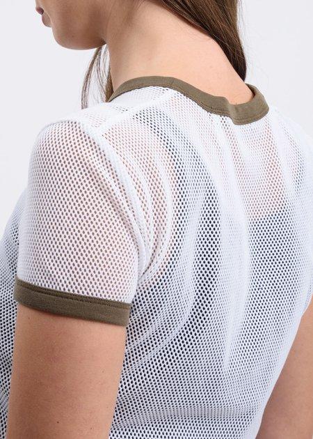 Helmut Lang Cotton Mesh Baby T-Shirt - White