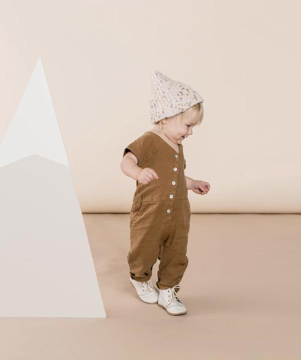Kids Rylee + Cru Utility Jumpsuit - Caramel
