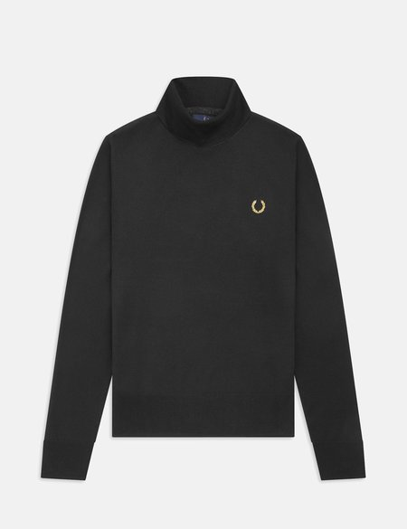 Fred Perry x Miles Kane Rollneck Jumper - Black