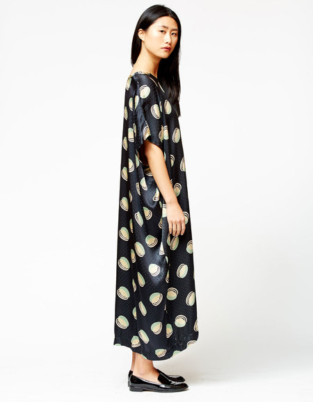 Bishop Collective Caftan - Black Orbs