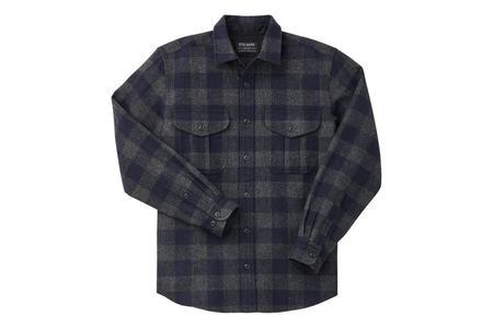 Filson Northwest Wool Shirt - Heather Grey/Navy