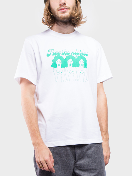 Carne Bollente Free the nipples T-Shirt - WHITE