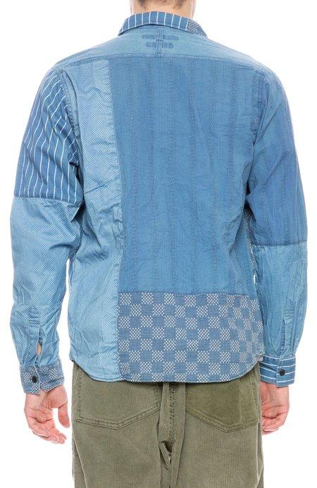 FDMTL Boro Patchwork Shirt - 2 Year Wash