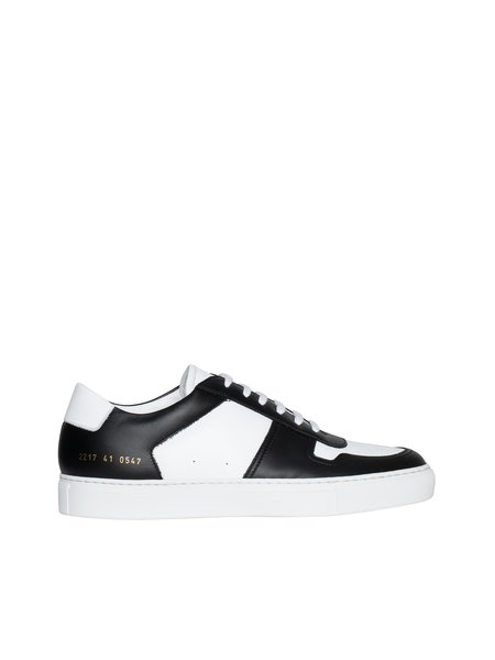 Common Projects Bball Low Duo Tone Sneakers - Black/White